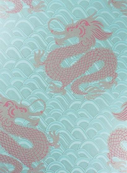Osborne & Little Tapete Celestial Dragon - Ice Blue