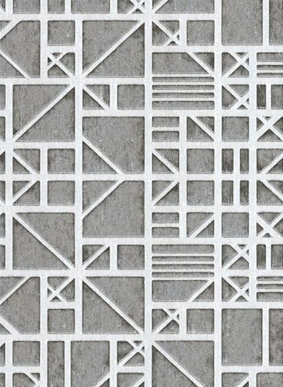 Geometrische Tapete Window von Arte - Grau