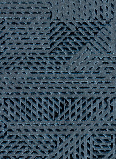 Geometrische Tapete Oblique von Arte - Blaugrau