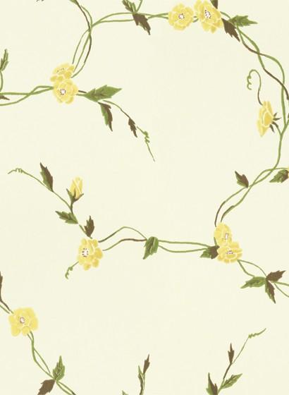 Blumentapete Levi von Sandberg - Yellow