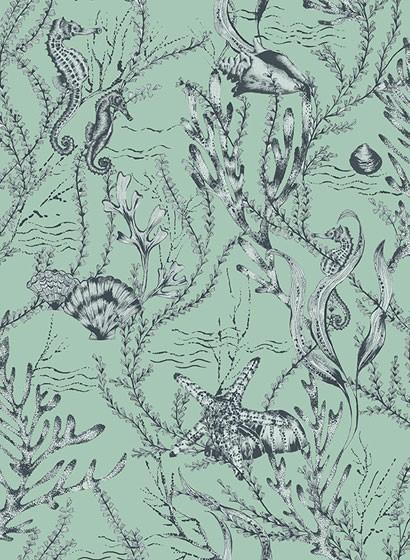 Meeres Tapete Seahorse von Hookedonwalls - Mint