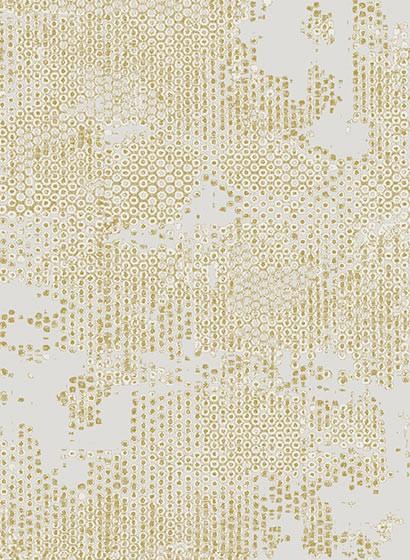 Tapete Underwater von Hookedonwalls - Silber/ Creme/ Gold