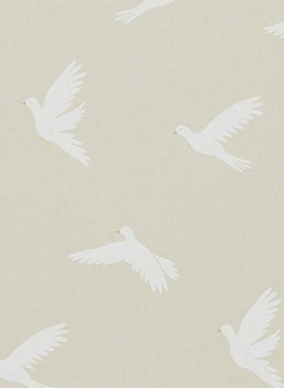 Vogeltapete Paper Doves von Sanderson - Linen