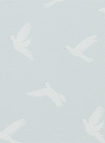 Vogeltapete Paper Doves von Sanderson - Mineral