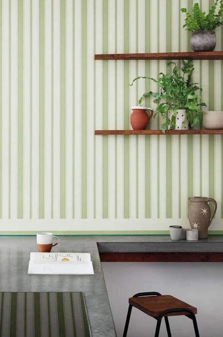 Bordüre Jaspe Border von Cole & Son - White/ Green & Emerald