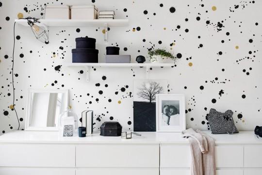 Punkte Tapete Ink Colossal von Rebel Walls - Black