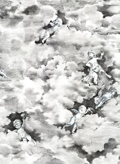 Wolken Tapete Chubby Cherubs von Rebel Walls - Black & White