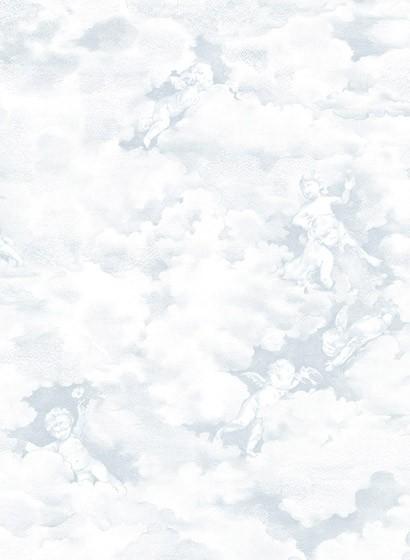 Wolken Tapete Chubby Cherubs von Rebel Walls - Blue