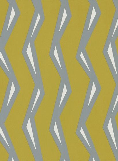 Streifen Tapete Rayo von Scion - Dandelion/ Charcoal