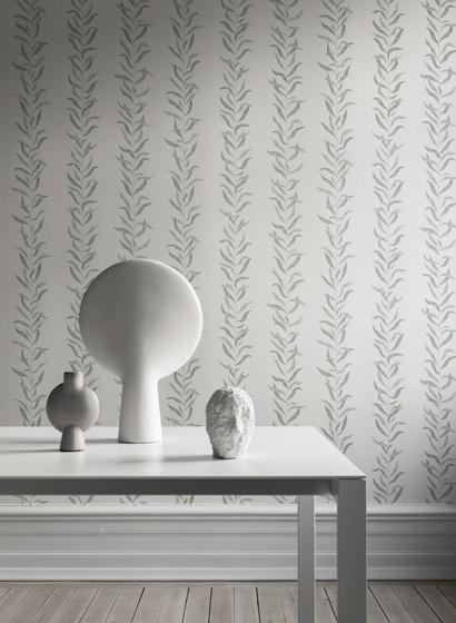 Florale Streifentapete Pil von Sandberg