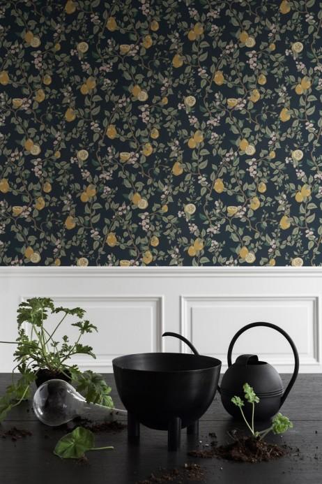 Florale Tapete Kvitten von Sandberg