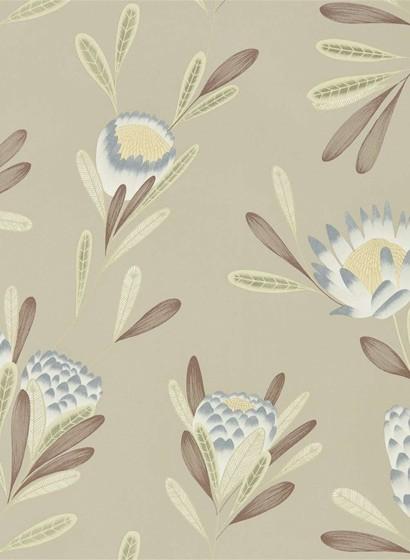 Florale Tapete Cayo von Harlequin - Mist/ Linden