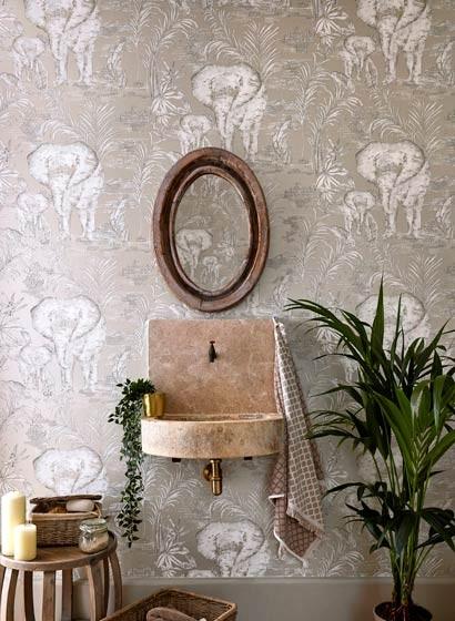 Elefanten Tapete Kinabalu von Harlequin
