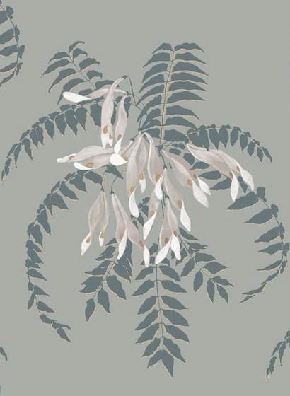 Florale Tapete Semi von Ailanto - Gold Seed & Sage