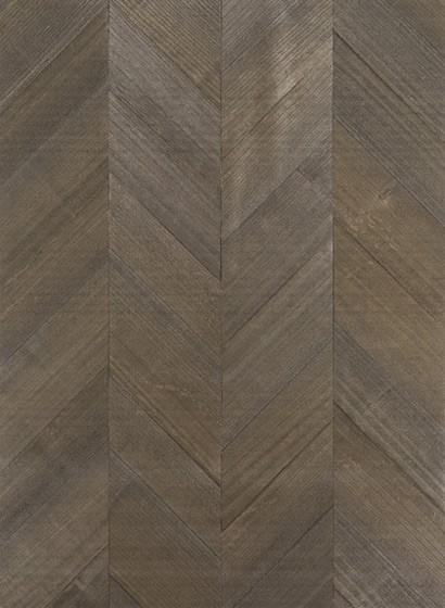 Holzfurnier Tapete Inyo Wood von Thibaut - Walnut
