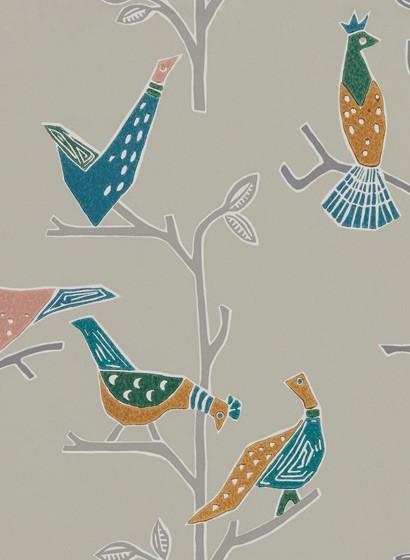 Vogel Tapete Passaro von Scion - Ginger/ Teal
