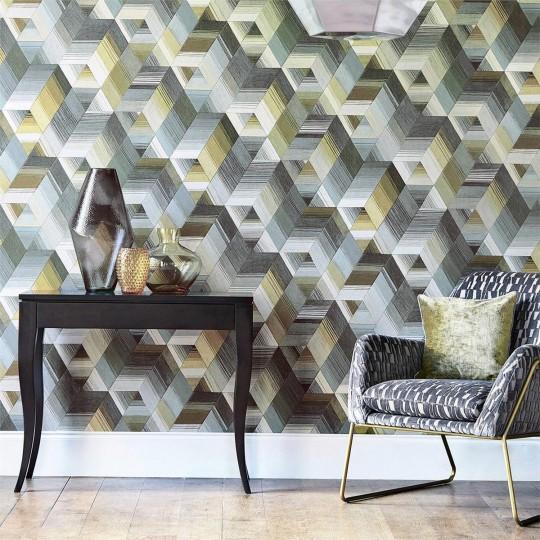 Geometrische Tapete Arccos von Harlequin