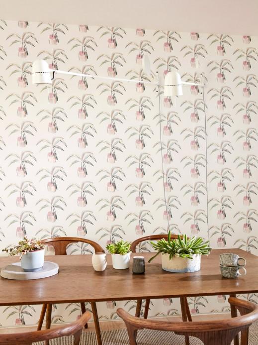 Topfpflanzen Tapete Crassula von Scion - Blush/ Mint