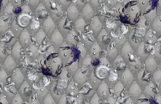 Meeres-Tapete Coquillage & Crustacés von Edmond Petit