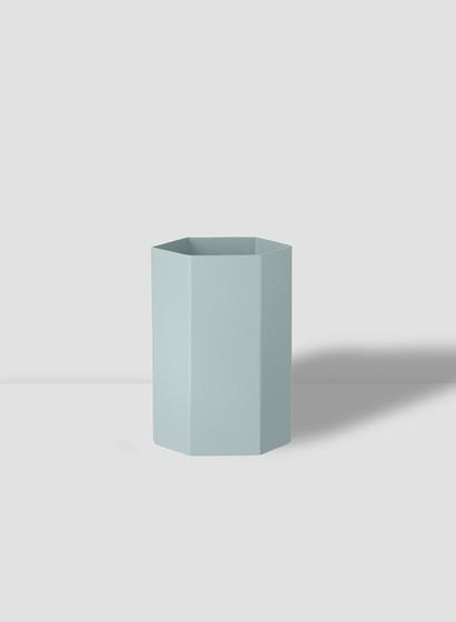 Hexagon Vase von Ferm Living - Light Blue