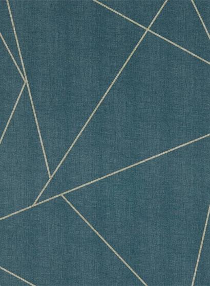 Geometrische Vinyltapete Parapet von Harlequin - Indigo