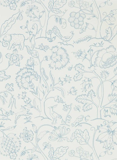 Tapete Middlemore von Morris & Co. - Cornflower Chalk