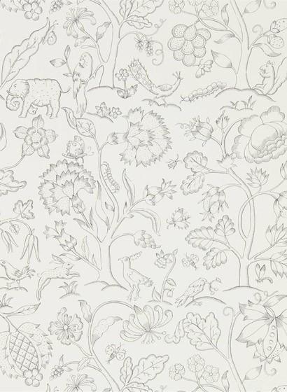 Tapete Middlemore von Morris & Co. - Chalk Charcoal