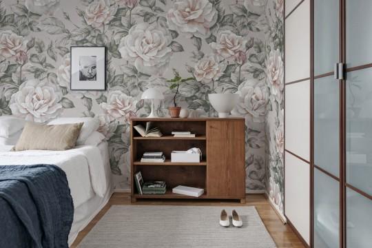 Blumen Tapete Nude Roses von Rebel Walls