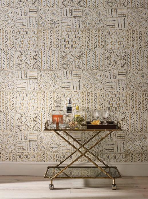 Grafische Tapete Cloisters von Nina Campbell