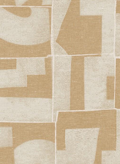 Patchwork Tapete Module von Arte - Beige/ Gelb