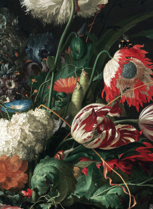 KEK Amsterdam Wandbild Golden Age Flowers 2 - 2.922m