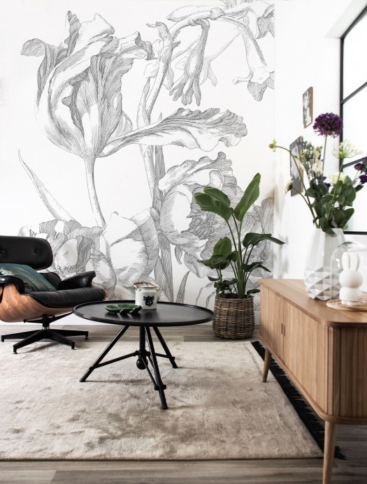 KEK Amsterdam Wandbild Engraved Flowers 1 - 1.948m